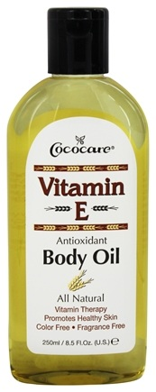 Cococare - Vitamin E Antioxidant Body Oil Fragrance Free - 8.5 oz.
