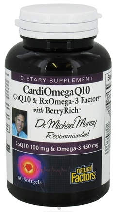 DROPPED: Natural Factors - Dr. Murray's CardiOmega Q10 - 60 Softgels CLEARANCE PRICED