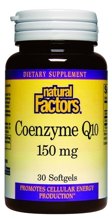 DROPPED: Natural Factors - Coenzyme Q10 150 mg. - 30 Softgels