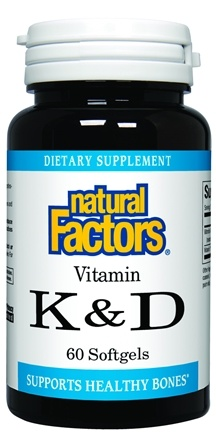 DROPPED: Natural Factors - Vitamin K & D - 60 Softgels CLEARANCE PRICED