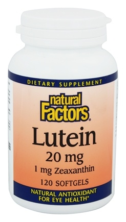 Natural Factors - Lutein 20 mg. - 120 Softgels