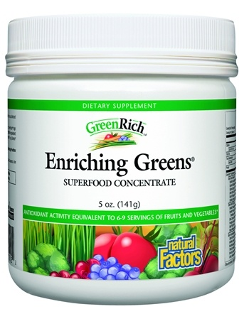 DROPPED: Natural Factors - GreenRich Enriching Greens Superfood Concentrate - 5 oz. CLEARANCE PRICED