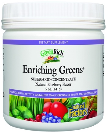 DROPPED: Natural Factors - GreenRich Enriching Greens Superfood Concentrate  Blueberry Flavor - 5 oz.