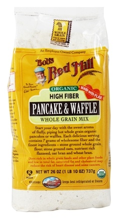 Bob's Red Mill - Organic Pancake & Waffle Mix High Fiber - 26 oz.