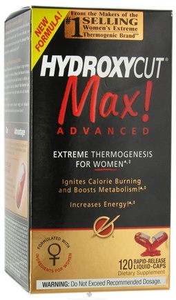 DROPPED: Muscletech Products - Hydroxycut Max Advanced Thermogenesis for Women - 120 Liquid Capsules CLEARANCE PRICED
