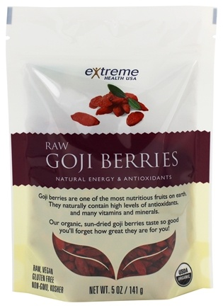 Extreme Health USA - Raw Goji Berries - 5 oz. formerly Organic Wild Crafted Tibetan Goji Berry