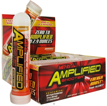 DROPPED: MET-Rx - Amplified Shooter Energy Boost Orange - 2.9 oz.