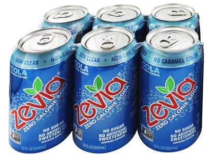 Zevia - All Natural Soda Sweetened with Stevia 12 oz. Cans Cola Flavor - 24 Pack