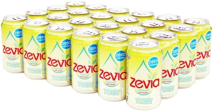 DROPPED: Zevia - All Natural Soda Sweetened with Stevia 12 oz. Cans Lemon Lime Twist Flavor - 24 Pack CLEARANCE PRICED