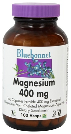Bluebonnet Nutrition - Magnesium 400 mg. - 100 Vegetarian Capsules