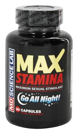 MD Science Lab - Max Stamina Maximum Sexual Stimulant - 30 Capsules