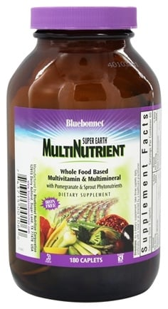 Bluebonnet Nutrition - Super Earth Multinutrient Formula Iron-Free - 180 Caplets