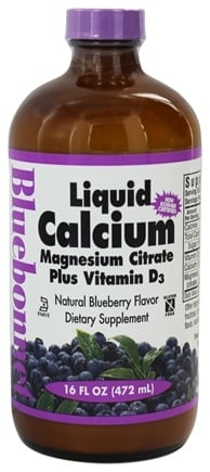 Bluebonnet Nutrition - Liquid Calcium Magnesium Citrate Plus Vitamin D3 Natural Blueberry Flavor - 16 oz.