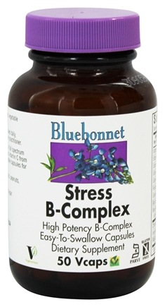 DROPPED: Bluebonnet Nutrition - Stress B-Complex High Potency - 50 Vegetarian Capsules