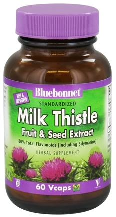 DROPPED: Bluebonnet Nutrition - Standardized Milk Thistle Fruit & Seed Extract 175 mg. - 60 Vegetarian Capsules CLEARANCE PRICED
