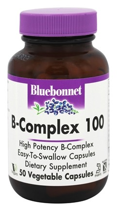 Bluebonnet Nutrition - B-Complex 100 High Potency - 50 Vegetable Capsule(s)