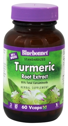 Bluebonnet Nutrition - Standardized Turmeric Root Extract - 60 Vegetarian Capsules