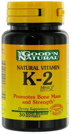 DROPPED: Good 'N Natural - Natural Vitamin K-2 - 30 Softgels
