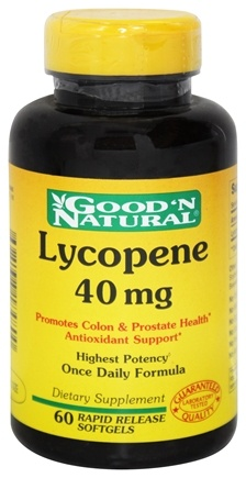 Good 'N Natural - Lycopene Once Daily Formula 40 mg. - 60 Softgels