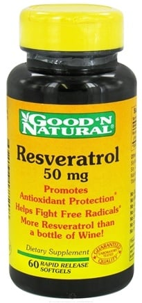 DROPPED: Good 'N Natural - Resveratrol 50 mg. - 60 Capsules CLEARANCE PRICED