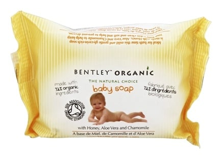 Bentley Organic - Baby Soap 72% Organic With Honey Aloe Vera & Chamomile - 4.4 oz.