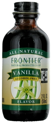 DROPPED: Frontier Natural Products - All-Natural Alcohol-Free Flavor Vanilla - 2 oz. CLEARANCE PRICED