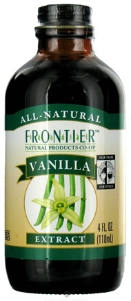 DROPPED: Frontier Natural Products - All-Natural Extract Vanilla - 4 oz. CLEARANCE PRICED
