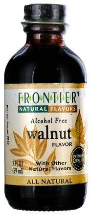 DROPPED: Frontier Natural Products - All-Natural Alcohol-Free Flavor Walnut - 2 oz. CLEARANCE PRICED