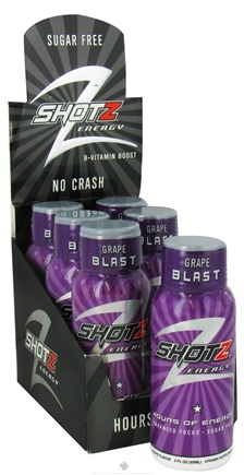 DROPPED: Shotz Energy - B-Vitamin Boost Energy Shot Drink Grape Blast - 2 oz.