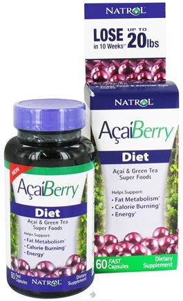 DROPPED: Natrol - AcaiBerry Diet Super Foods - 60 Capsules CLEARANCE PRICED