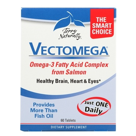 EuroPharma - Terry Naturally Vectomega Whole Food Omega 3 DHA/EPA Complex - 60 Tablets
