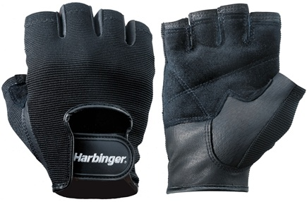 DROPPED: Harbinger - Power Lifting Gloves- Large- Black - 1 Pair