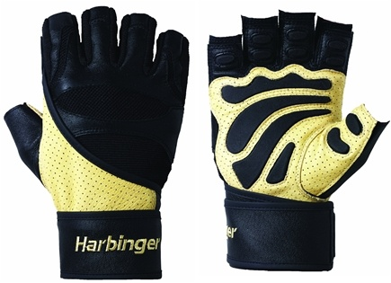 DROPPED: Harbinger - Big Grip II with Wrist Wrap Lifting Gloves - Extra Large Natural/Black - 1 Pair