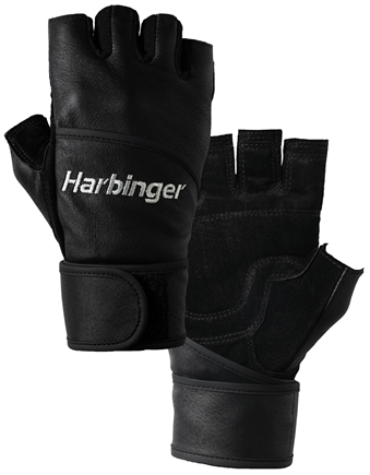 DROPPED: Harbinger - Classic WristWrap Lifting Gloves - Large Black - 1 Pair CLEARANCE PRICED