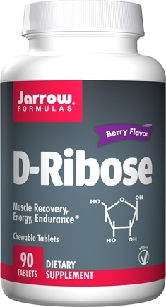 DROPPED: Jarrow Formulas - Ribose Muscle Edge Chewable Berry Flavor - 90 Chewable Tablets