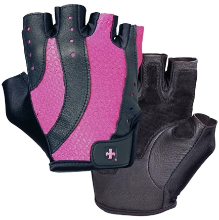 DROPPED: Harbinger - Women's Pro Lifting Gloves - Medium Black/Pink - 1 Pair
