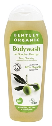 DROPPED: Bentley Organic - Bodywash Deep Cleansing 77% Organic With Olive Tea Tree & Eucalyptus Oils - 8.8 oz.