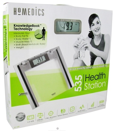 DROPPED: HoMedics - Healthstation Body Composition Scanner Glass Scale (SC-535) - CLEARANCE PRICED