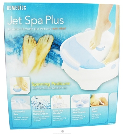 DROPPED: HoMedics - JetSpa Plus Jet Action Footbath plus Pedicure (BL-300) - HOLIDAY PRICED