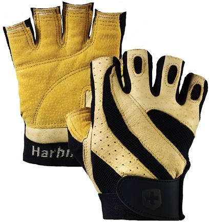 DROPPED: Harbinger - Pro Lifting Gloves - Medium Natural - 1 Pair CLEARANCE PRICED