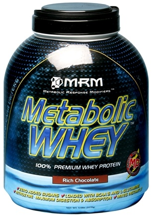 DROPPED: MRM - Metabolic Whey 100% Premium Whey Protein Rich Chocolate - 5 lbs. CLEARANCED PRICED