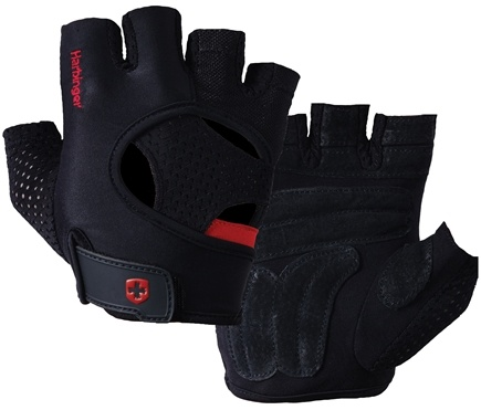 DROPPED: Harbinger - FlexFit Anti-Microbial Lifting Gloves- Large- Black/Red - 1 Pair CLEARANCE PRICED