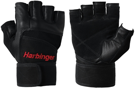 DROPPED: Harbinger - Pro WristWrap Lifting Gloves - Small Black - 1 Pair CLEARANCE PRICED
