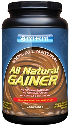 DROPPED: MRM - 100% All Natural Gainer Chocolate - 3.3 lbs. CLEARANCE PRICED