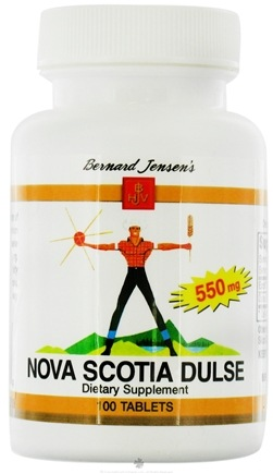 DROPPED: Bernard Jensen - Nova Scotia Dulse 550 mg. - 100 Tablets CLEARANCE PRICED