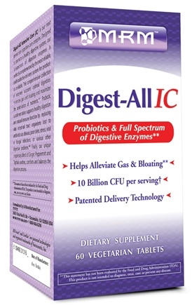 DROPPED: MRM - Digest-All IC - 60 Vegetarian Tablets CLEARANCE PRICED