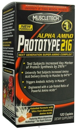 DROPPED: Muscletech Products - Prototype 216 Alpha Amino Complex - 120 Caplets CLEARANCE PRICED