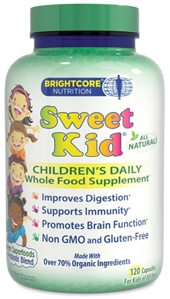 DROPPED: Brightcore Nutrition - Sweet Kid Organic Wheat Grass Juice Powder - 120 Capsules