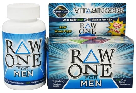 Garden of Life - Vitamin Code RAW One Multi-Vitamin For Men - 75 Vegetarian Capsules