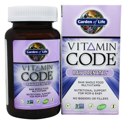 Garden of Life - Vitamin Code RAW Prenatal Nutritional Support For Mom & Baby - 90 Vegetarian Capsules